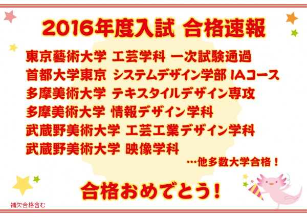 2016合格速報
